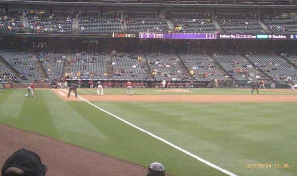 Coors Field, section: 112, row: 7, seat: 4