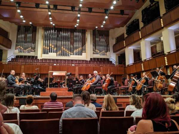 The Kennedy Center Concert Hall, section: Orch, row: F, seat: 107