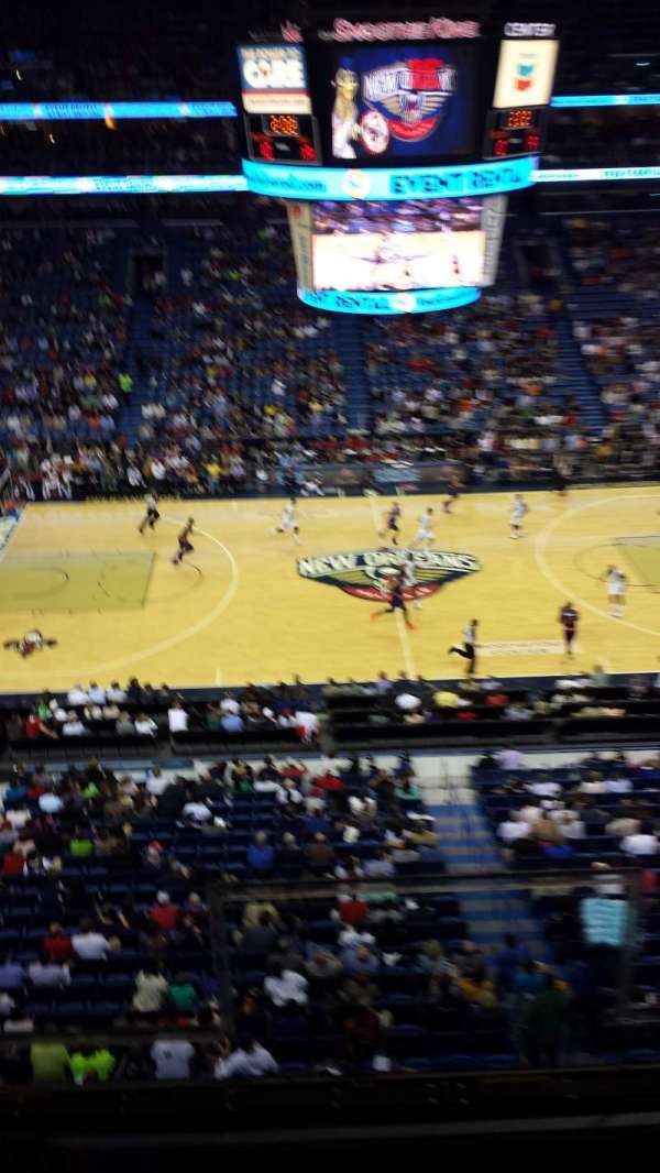 Smoothie King Center, section: 301, row: 2, seat: 2