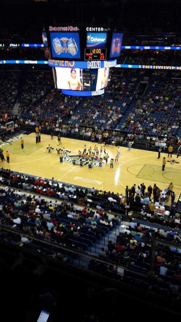Smoothie King Center, section: 315, row: 2, seat: 2