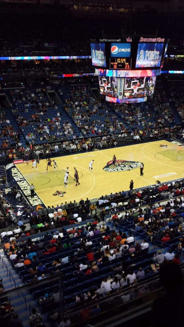 Smoothie King Center, section: 319, row: 2, seat: 2