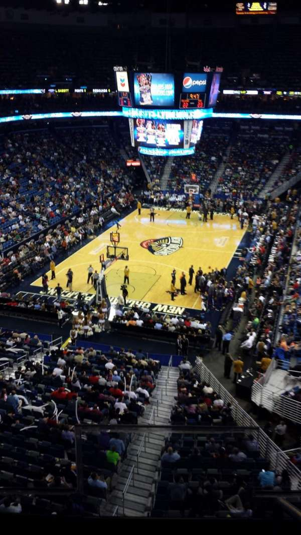 Smoothie King Center, section: 323, row: 2, seat: 2