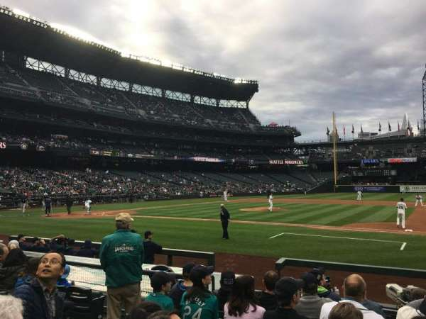 T-Mobile Park, section: 121, row: 10, seat: 8