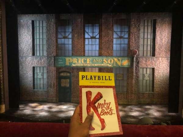 Al Hirschfeld Theatre, section: Mezzanine, row: A, seat: 107