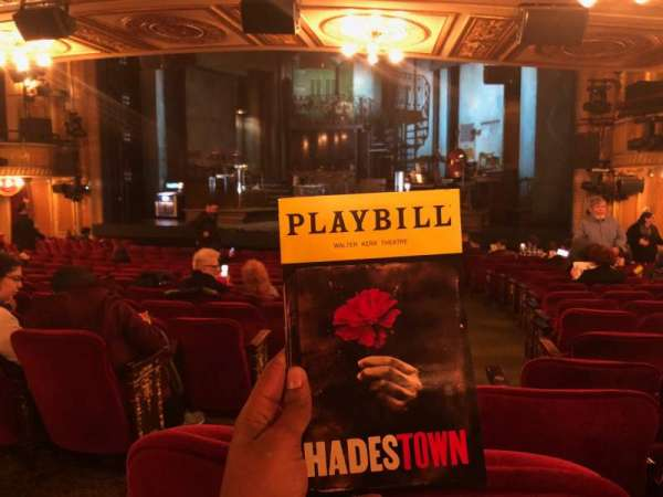 Walter Kerr Theatre, section: Orchestra R, row: S, seat: 4