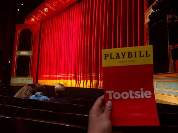 Marquis Theatre, section: Orchestra R, row: F, seat: 16