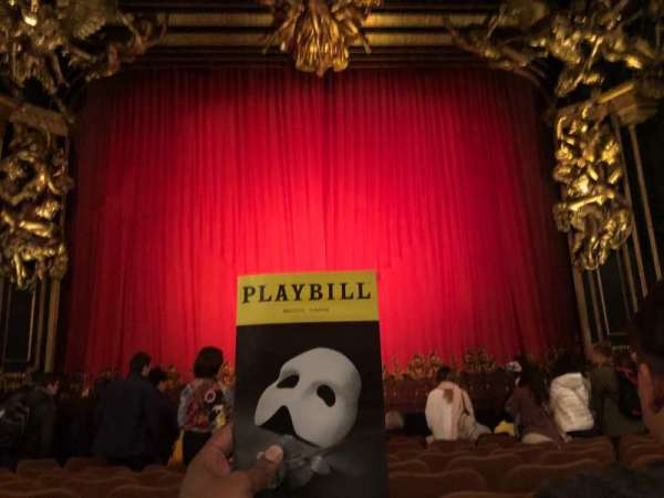 Majestic Theatre, section: Orchestra, row: H, seat: 106