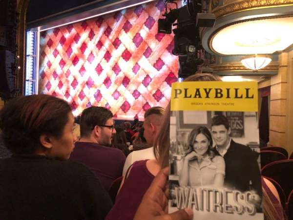 Brooks Atkinson Theatre, section: Orchestra R, row: K, seat: 24