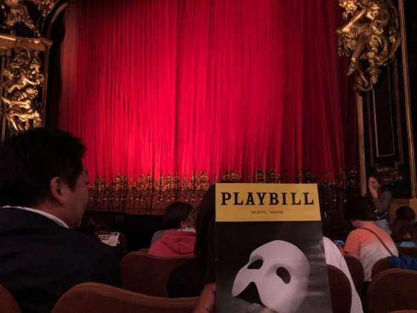 Majestic Theatre, section: Orchestra R, row: E, seat: 8