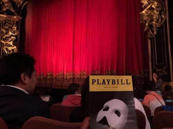 Majestic Theatre, section: Orchestra R, row: E, seat: 8