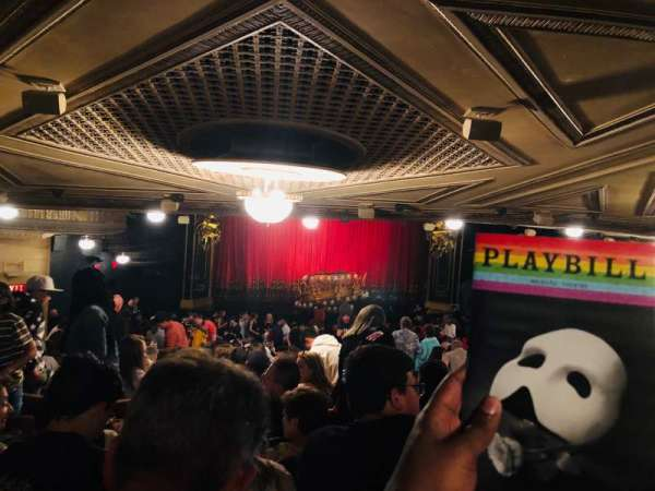 Majestic Theatre, section: Orchestra L, row: Standing Room, seat: 11
