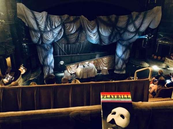 Majestic Theatre, section: Rear Mezzanine LC, row: A, seat: 123