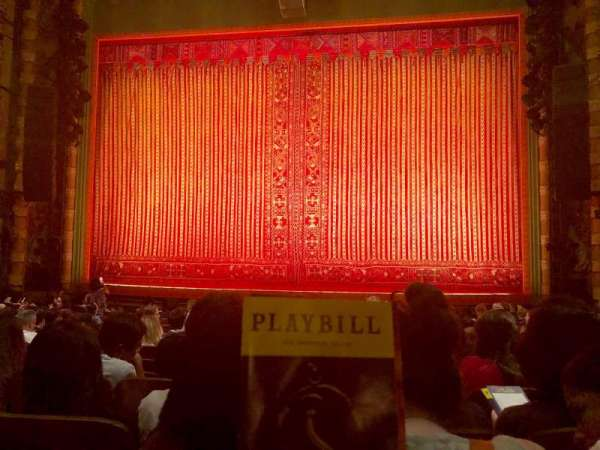 New Amsterdam Theatre, section: Orchestra, row: N, seat: 103