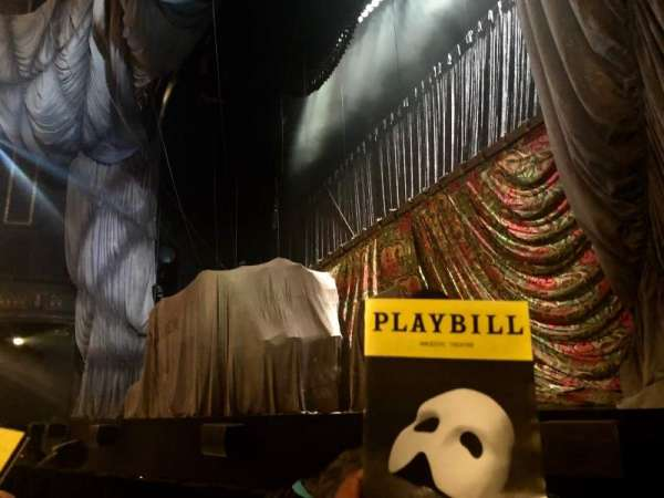 Majestic Theatre, section: Orchestra R, row: BB, seat: 14