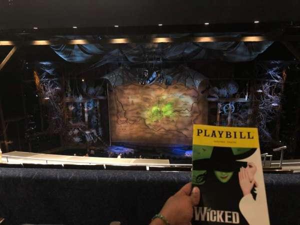 Gershwin Theatre, section: Rear Mezzanine C, row: G, seat: 116