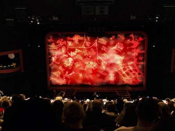 Minskoff Theatre, section: Mezzanine, row: L, seat: 129