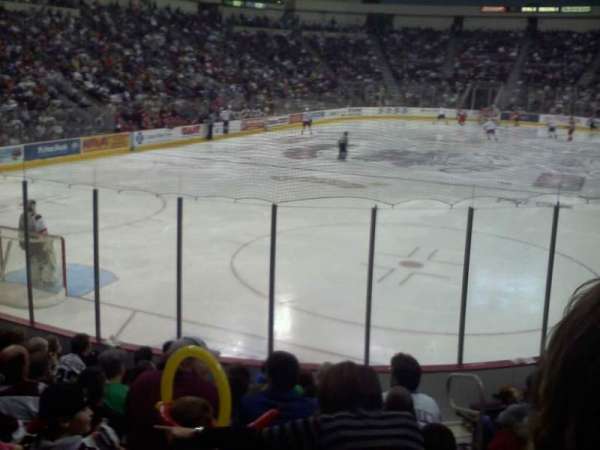 Giant Center, section: 102, row: k, seat: 4