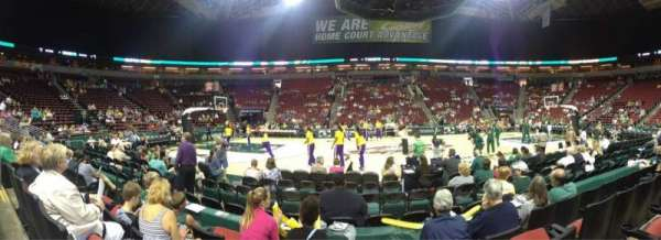 KeyArena, section: 128, row: 4, seat: 8