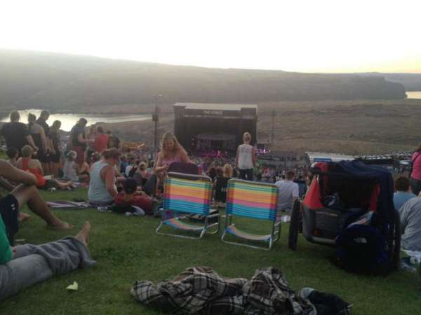 Gorge Amphitheatre, section: GA, row: Lawn