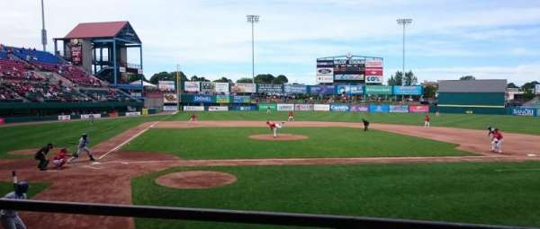 McCoy Stadium, section: 4, row: B, seat: 12