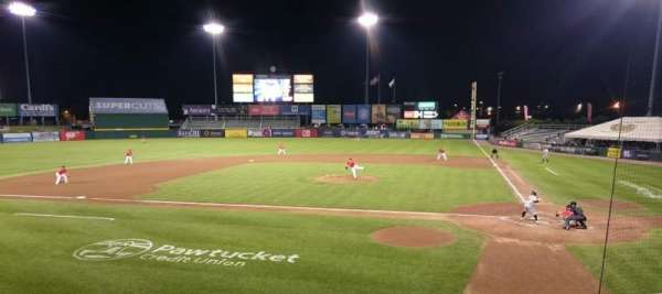McCoy Stadium, section: 9, row: F, seat: 5