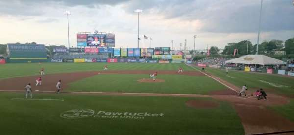 McCoy Stadium, section: 9, row: F, seat: 17