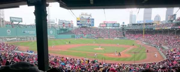 Fenway Park, section: Grandstand 23, row: 12, seat: 9