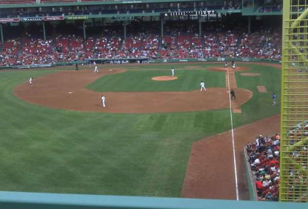 Fenway Park, section: Green Monster 1, row: 3, seat: 3