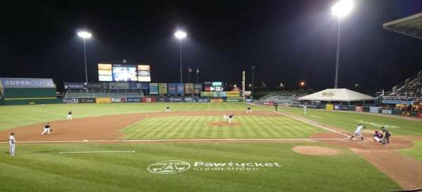 McCoy Stadium, section: 10, row: F, seat: 8