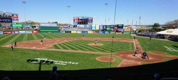 McCoy Stadium, section: 9, row: H, seat: 1