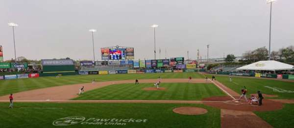 McCoy Stadium, section: 9, row: F, seat: 9