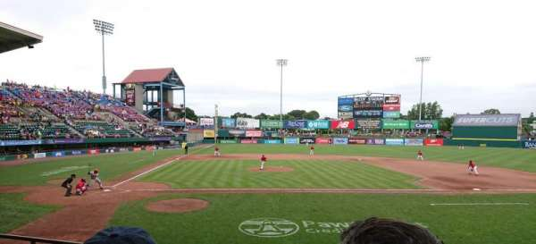 McCoy Stadium, section: 4, row: D, seat: 1