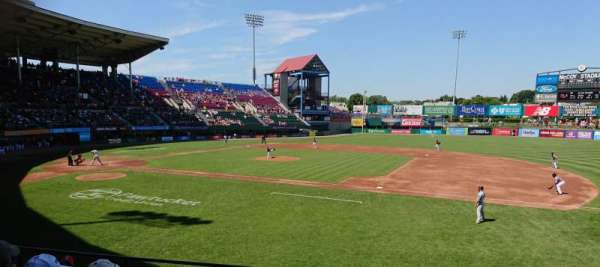 McCoy Stadium, section: 1, row: F, seat: 7