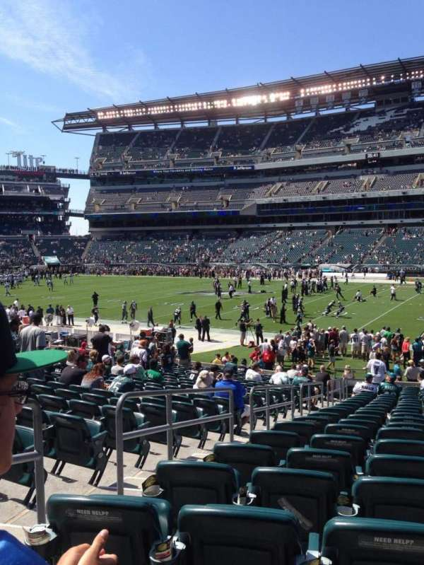 Lincoln Financial Field, section: 123, row: 23, seat: 22
