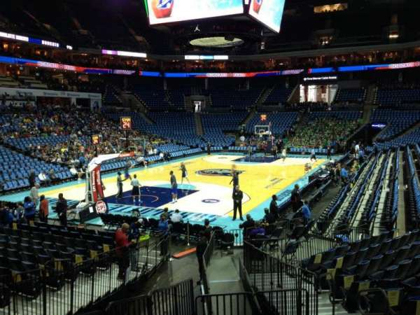 Spectrum Center, section: 108, row: O, seat: 4