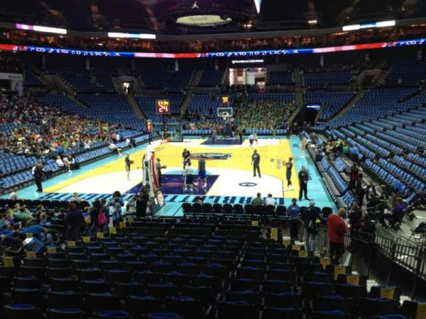 Spectrum Center, section: 109, row: O, seat: 6