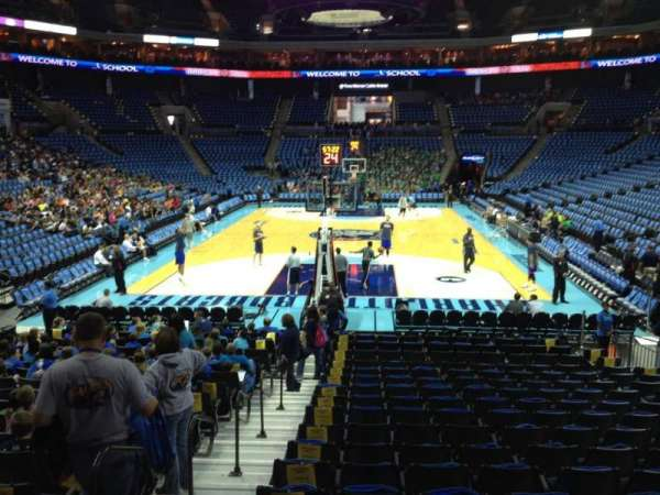 Spectrum Center, section: 109, row: O, seat: 15