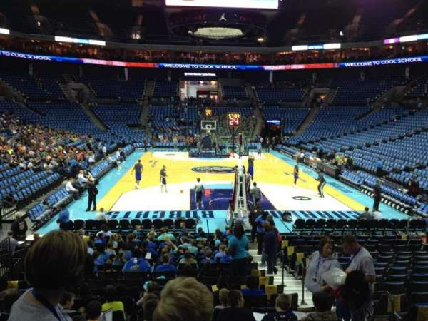 Spectrum Center, section: 110, row: O, seat: 4