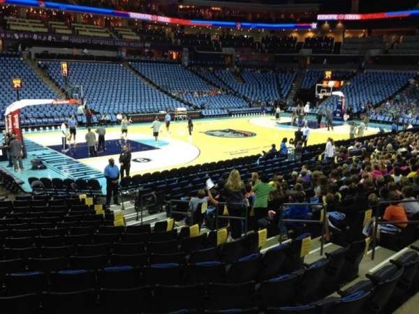 Spectrum Center, section: 116, row: N, seat: 11