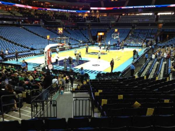 Spectrum Center, section: 116, row: N, seat: 38