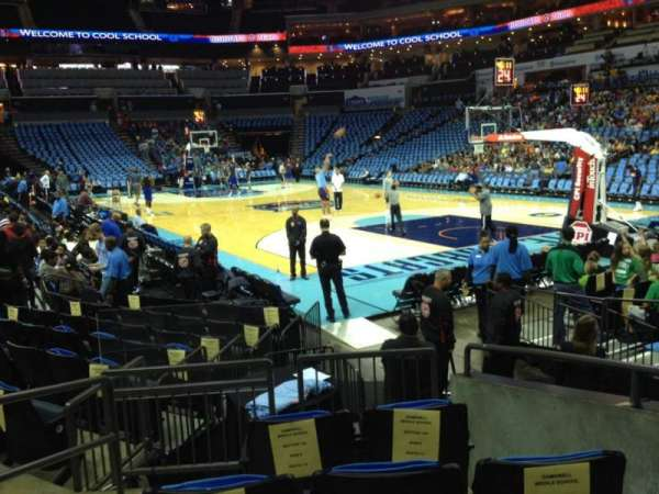 Spectrum Center, section: 102, row: I, seat: 3