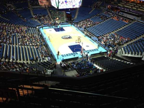 Spectrum Center, section: 219, row: F, seat: 3