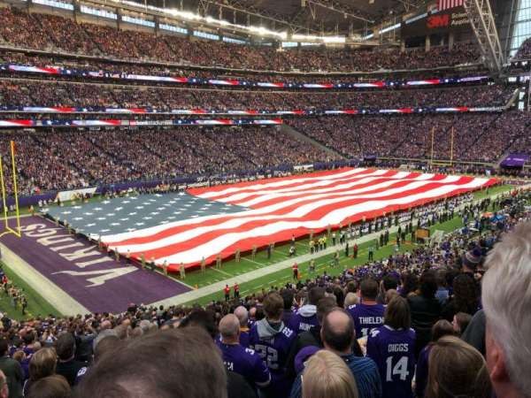 U.S. Bank Stadium, section: 136, row: 35, seat: 25