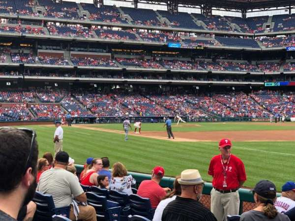 Citizens Bank Park, section: 111, row: 8