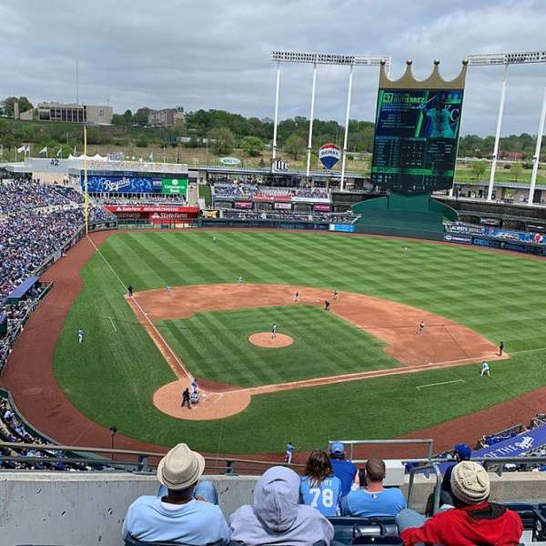Kauffman Stadium, section: 423, row: J, seat: 9