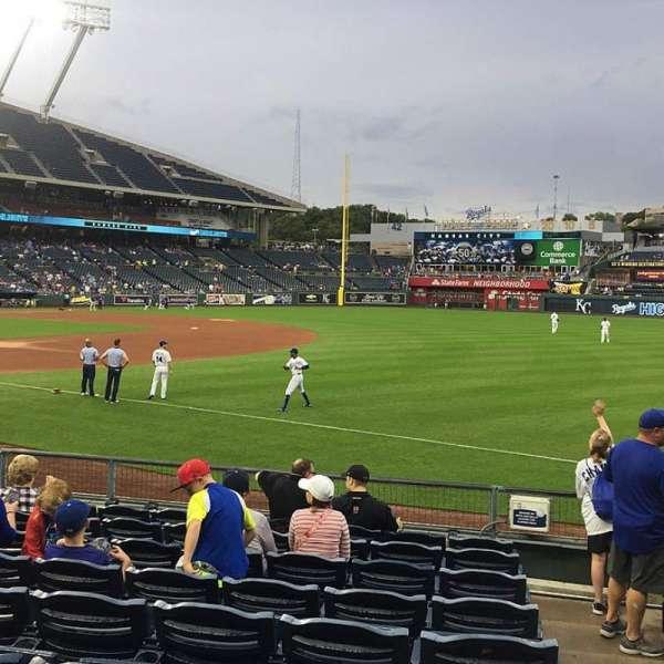 Kauffman Stadium, section: 141, row: K, seat: 11