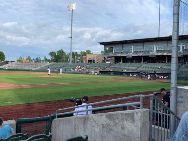 T-Bones Stadium, section: 110, row: 4, seat: 18