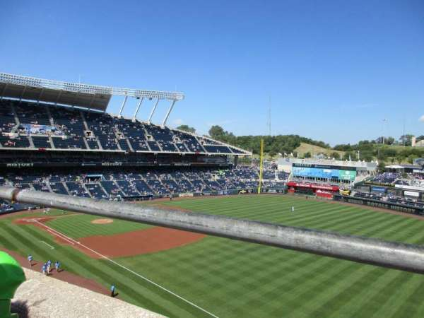 Kauffman Stadium, section: 437, row: A, seat: 18