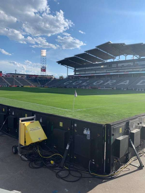 Dick's Sporting Goods Park, section: 100, row: 1, seat: 1