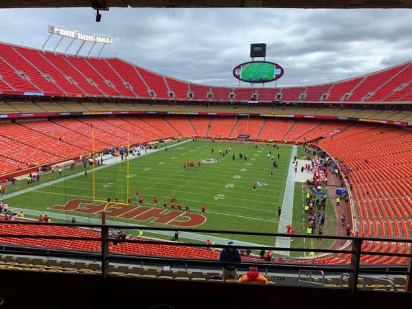 Arrowhead Stadium, section: S234R, row: B, seat: 2